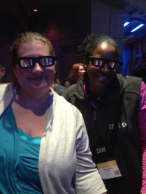 Renee (boss) and I in line for Star Tours.